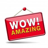 stock photo of you are awesome  - wow factor for and amazing and awesome mind blowing item - JPG