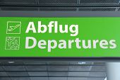 Airport Sign - Departures