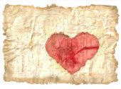 Antique Paper With Heart