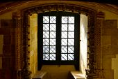 picture of templar  - Window in the Templar Church in the Portugal City of Tomar - JPG
