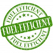 Fuel Efficient Grunge Green Round Stamp