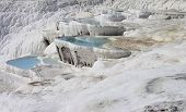 image of natural phenomena  - The Pamukkale natural lakes in Hierapolis Turkey - JPG