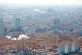 airview panorama of Beijing, China