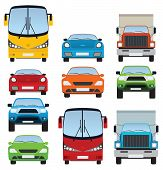 Cars collection (front view)