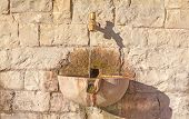 Stone drinking fountain