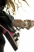image of guitarists  - Guitarist performing live at the rock concert - JPG