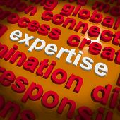 Expertise Word Cloud Shows Skills Proficiency And Capabilities