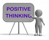 Positive Thinking Whiteboard Means Optimism Hopefulness And Good Attitude