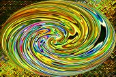 Abstract Art of Beautiful Color Background - Circle of Gold