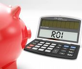Roi Calculator Shows Investment Return And Profitability