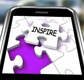 Inspire Smartphone Shows Originality Innovation And Creativity On Web