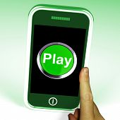 Play Smartphone Shows Internet Recreation And Entertainment