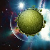 Green Planet In The Universe