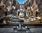 Ancient Buddha Statue at Wat Si Chum, Sukhothai Province, Thailand