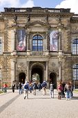 The Outside Facade Of The Old Masters Picture Gallery And The North-eastern Entrance In Zwinger.