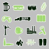 beer stickers set eps10