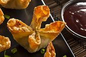 Asian Crab Rangoons With Sweet And Sour Sauce