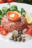 stock photo of tartar  - Tartar steak - JPG