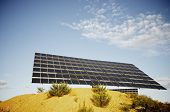 huge solar panel for renewable electric energy production