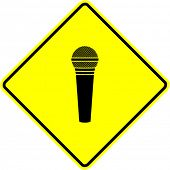 microphone sign