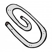 cartoon red paperclip