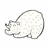 cartoon stretching polar bear