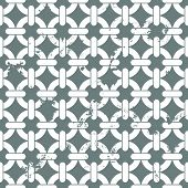 illustration of of a seamless interlocked chain background pattern, eps10 vector