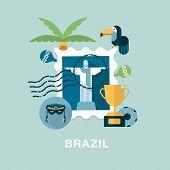 vector Brazil concept illustration