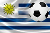 Soccer Ball Leaps Out Of Uruguayan Flag