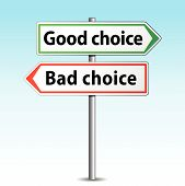 Vector Good Or Bad Choice Sign