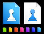 Pawn Icons on Colorful Paper Document Collection