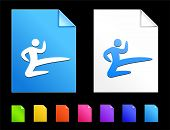 image of karate  - Karate Icons on Colorful Paper Document Collection - JPG