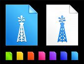 Oil drill Icons on Colorful Paper Document Collection