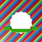Vector Striped Background With Blank Label