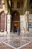 SYRIA, DAMASCUS - MARCH 10, 2008: Umayyad Mosque in Damascus. This historic mosque is one of the mos