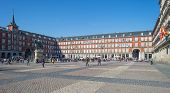 Plaza Mayor in Madrid in spring