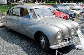 Beautiful Retro Cars On Display Outdoors In Lvov