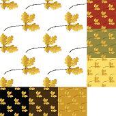 set of autumn seamless pattern
