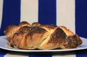 Jewish bread on plate