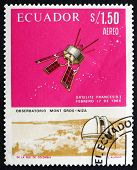 Postage Stamp Ecuador 1966 French Satellite D-1