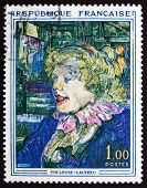 Postage Stamp France 1965 Painting By Toulouse-lautrec