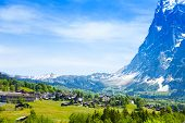 Beautiful view of Grindelwald Alps in Switzerland