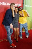 PASADENA - APR 8: Judah Friedlander, Kari Wuhrer, Mark McGrath at the NBC/Universal's 2014 Summer Pr