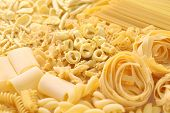 foto of carbohydrate  - pasta assortment - JPG