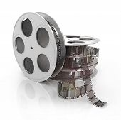 film reel copy isolated on white background