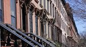 foto of brownstone  - Views of classic brownstones - JPG