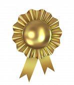 Blank award ribbon rosette, 3d