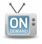 Cartoon-style TV Icon On Demand
