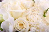 Beautiful wedding bouquet, close up