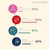 Creative Histogram Infographics Design